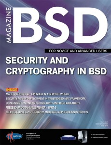 BSD Magazine (July 2013): Security and Cryptography in BSD