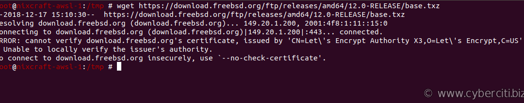 [How-To] FreeBSD wget cannot verify certificate, issued by Let's Encrypt