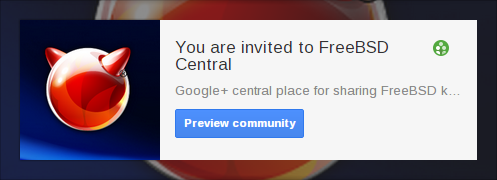 Google+ FreeBSD Communities