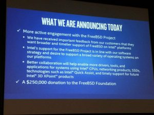 Intel donates $250,000 to FreeBSD Foundation