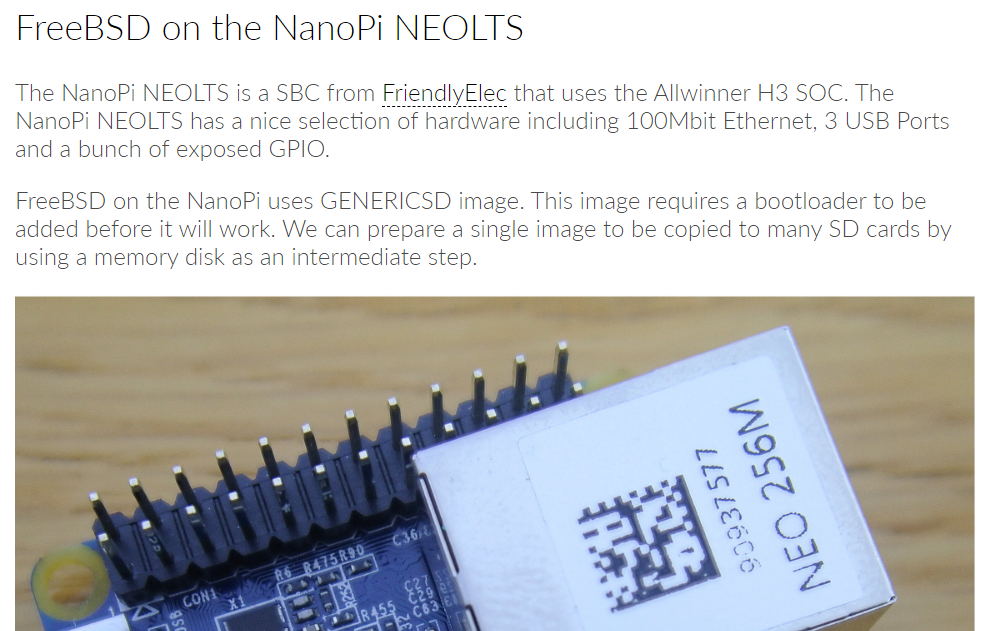 [How-To] FreeBSD on the NanoPi NEOLTS by Adventurist