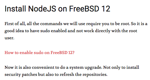 [How-To] Install NodeJS on FreeBSD 12 by OSRadar