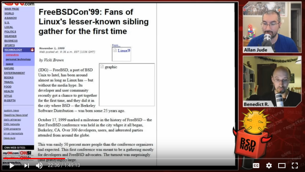 BSD Now 261: FreeBSDcon Flashback
