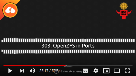 BSD Now Episode 303: OpenZFS in Ports
