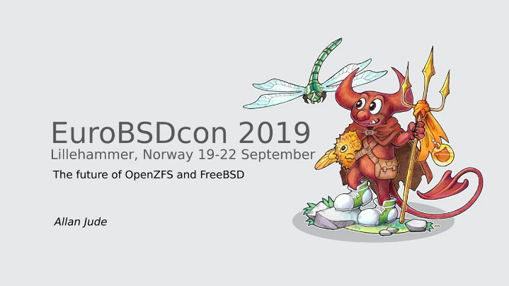 The Future of OpenZFS and FreeBSD by Allan Jude