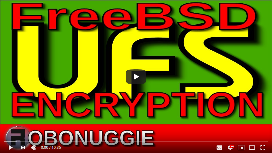 [How-To] FreeBSD UFS Encryption by RoboNuggie