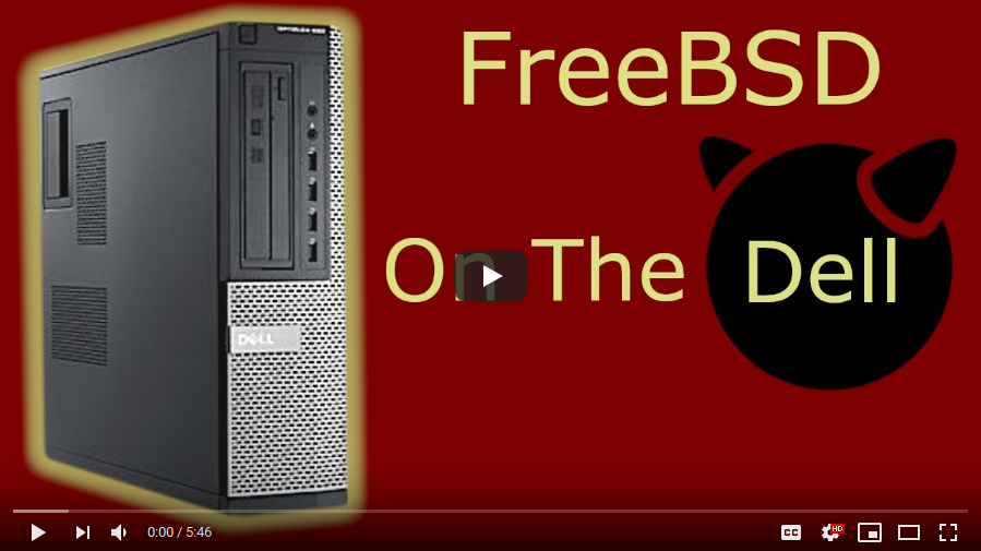FreeBSD running on the Dell 990 SFF by Doovalacky
