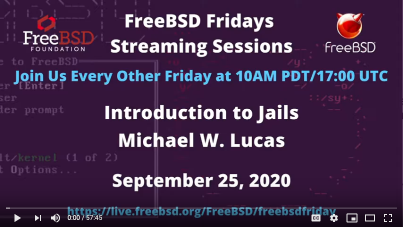 FreeBSD Fridays: An Introduction to  Security, Hardware Hacking on Raspberry Pi, and FreeBSD Jails
