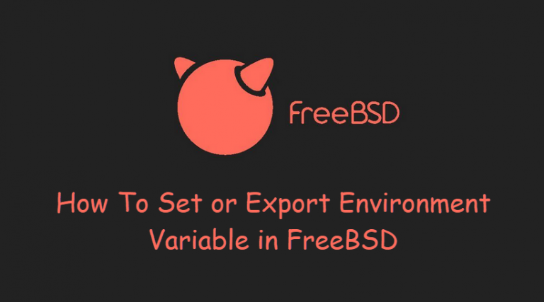 [How-To] Set or Export Environment Variable in FreeBSD by OSETC TECH