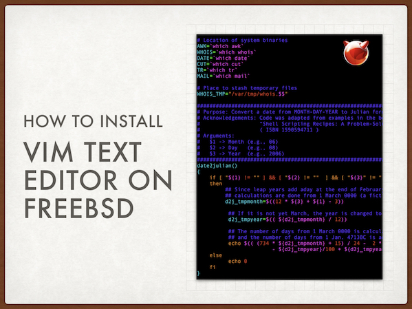 [How-To] FreeBSD install VIM text editor using pkg and ports