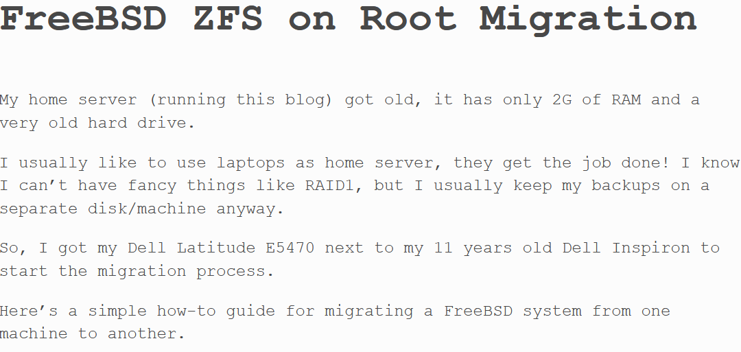[How-To] FreeBSD ZFS on Root Migration by Antranig