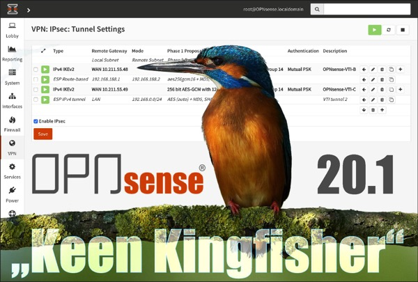 "OPNsense 20.1.1 ""Keen Kingfisher"" is now available"